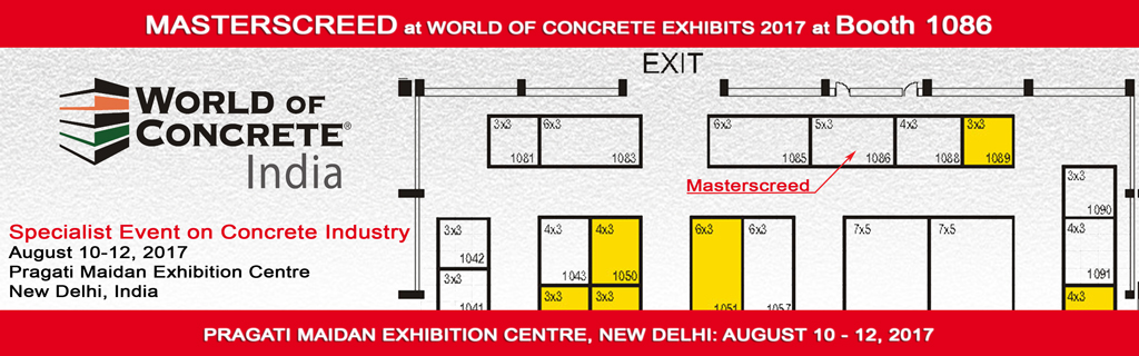 World of concrete exhibition - India 2017